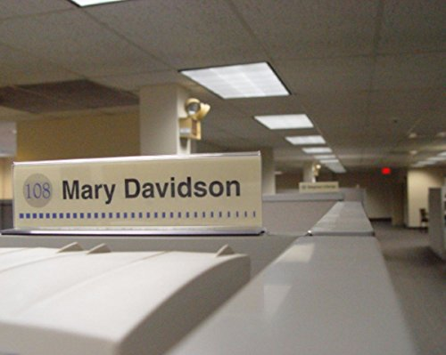 Cubicle-X-Ray-Vision-8-X-2-Double-Sided-Office-Cubicle-Nameplate-Sign-Frame-0