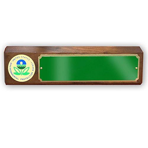 Customizable-Enviornmental-Protection-Agency-Desk-Block-Genuine-Walnut-includes-Personalization-0