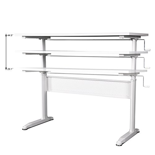 DEVAISE-Adjustable-Height-Standing-Desk-55-Inches-with-Crank-Handle-White-0-0