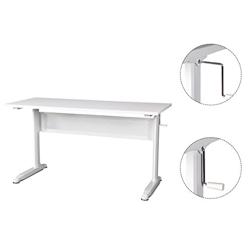 DEVAISE-Adjustable-Height-Standing-Desk-55-Inches-with-Crank-Handle-White-0-1