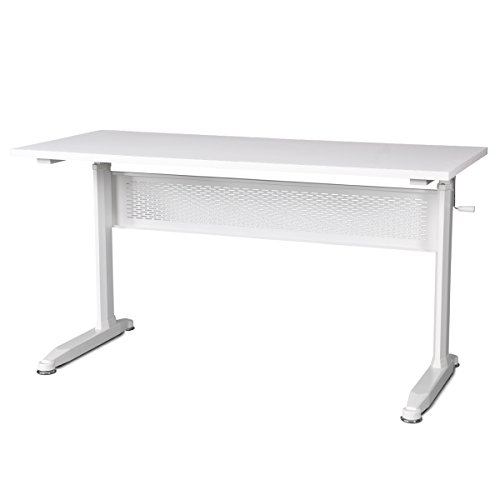 DEVAISE-Adjustable-Height-Standing-Desk-55-Inches-with-Crank-Handle-White-0