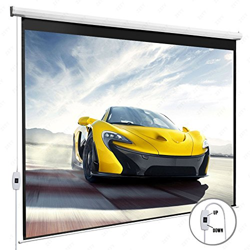 DFM-100-169-Electric-Motorized-Auto-Projector-Projection-Screen-With-Remote-Control-Pull-Down-Matte-0