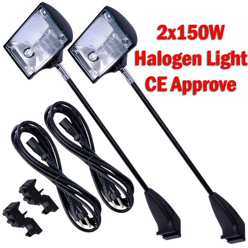 DSM-TM-2-X-150w-Halogen-Spot-Light-for-Trade-Show-Pop-up-Booth-Podium-Super-Bright-Tension-CE-approved-0