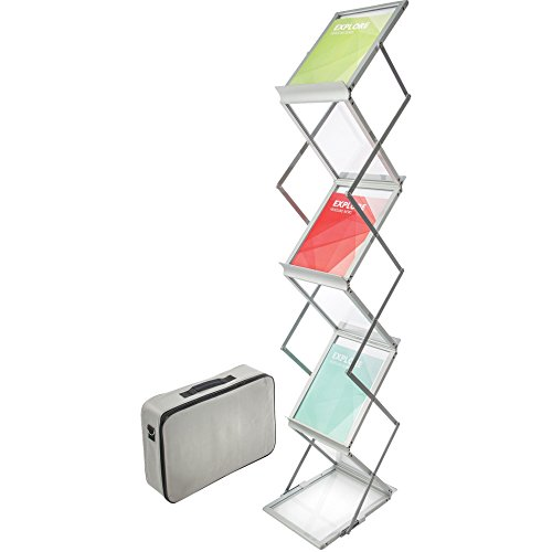 Deflect-o-Collapsible-Floor-Stand-with-6-Pockets-11-12-by-14-12-by-60-Inch-Silver-0