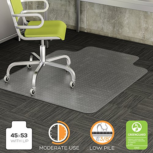Deflecto-DuraMat-Clear-Chair-Mat-Low-Pile-Carpet-Use-Beveled-Edge-0