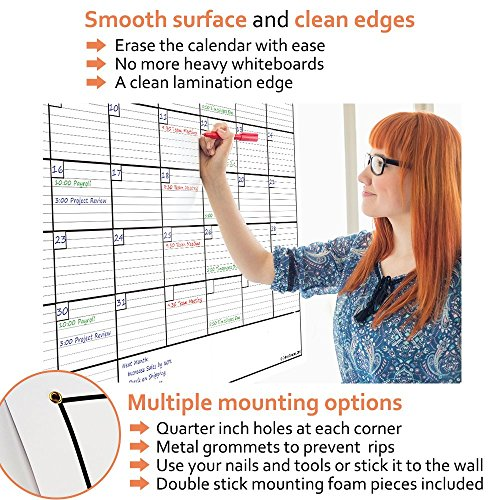 Delane-Large-Dry-Erase-Wall-Calendar-Planner-36-Inch-by-48-Inch-with-85-Inch-by-11-Inch-Desk-sized-Erasable-Calendar-and-4-Double-Stick-Mounting-Foam-Pieces-0-1