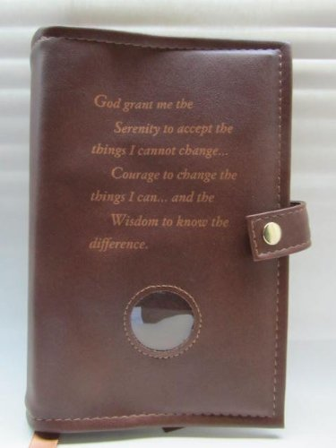 Deluxe-Double-Alcoholics-Anonymous-AA-Big-Book-12-Steps-12-Traditions-Book-Cover-Medallion-Holder-Brown-0