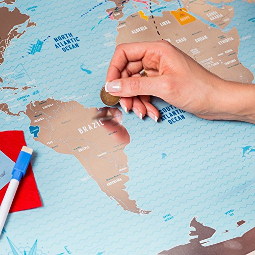 Deluxe-Scratch-Off-World-Map-Large-Places-Ive-Been-World-Travel-Map-Great-Scratchable-World-Map-Gift-For-Any-Traveller-Made-From-Flexible-Plastic-to-Last-Longer-Anniversary-Gift-by-1DEAme-0