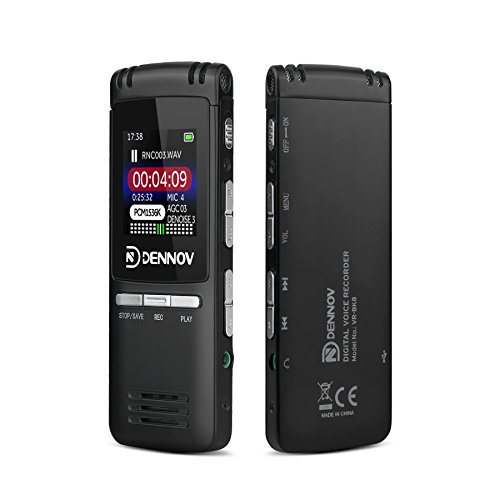 Dennov-VR-BK8-8-GB-Digital-Voice-Recorder-MP3-Music-Player-Auto-Record-VOC-Voice-Control-0-0