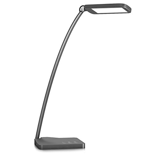 Desk-LampOak-Leaf-Aluminum-Alloy-LED-Desk-Lamp-with-5V1A-USB-Charging-PortModern-DesignTouch-ControlEye-caring-Panel-Design3-Lighting-Modes5-Level-Dimmer10W22-inches-Long-Lamp-0