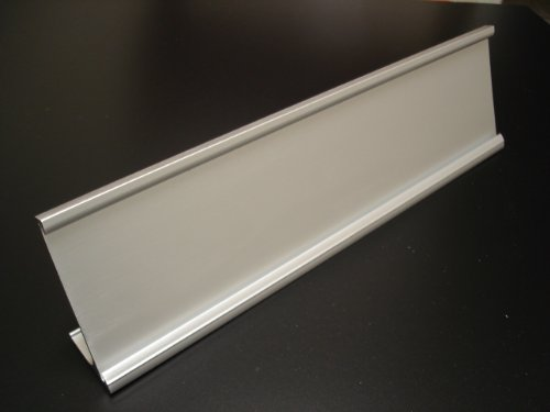 Desk-Name-Plate-Holders-Matte-Silver-Not-Shiny-Pack-of-10-0