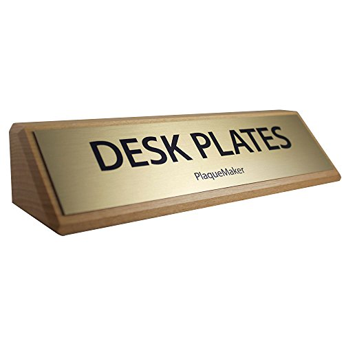 Desk-Name-Plates-Red-Alder-with-Gold-Plate-8-X-2-0
