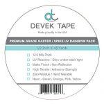 Devek-Neon-Spike-Tape-Rainbow-Pack-12-Inch-X-45-Yards-0-0