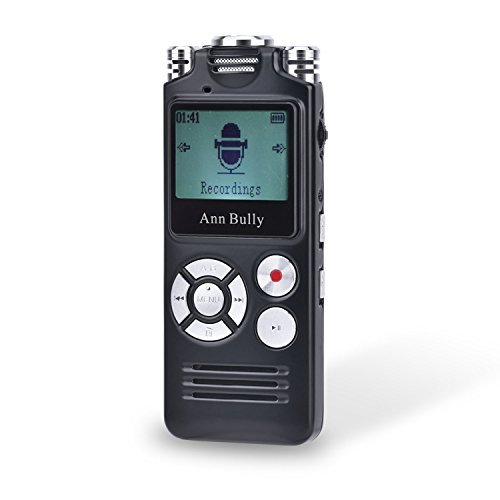 Digital-Audio-Voice-Recorder-8GB-MP3-Player-AGC-Recording-One-touch-Recording-1536Kbps-Sampling-Ultra-high-fidelity-Sound-Track-Recording-Black-8821-0