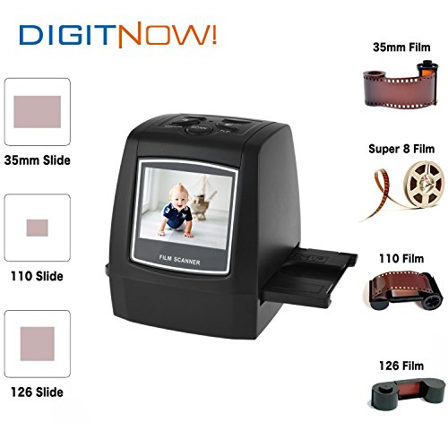 Digitnow-22MP-All-In-1-Film-Slide-Scanner-w-Speed-Load-Adapters-for-35mm-Negative-Slides-110-126-Super-8-Films-0-0