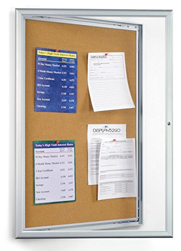 Displays2go-24-x-36-Inches-Enclosed-Bulletin-Board-with-Silver-Aluminum-Frame-with-Locking-Swing-Open-Door-CKSBTW2436-0-0