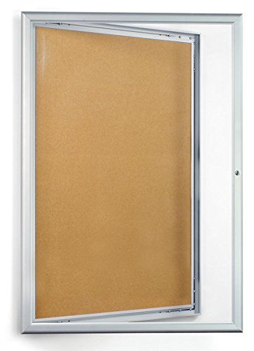 Displays2go-24-x-36-Inches-Enclosed-Bulletin-Board-with-Silver-Aluminum-Frame-with-Locking-Swing-Open-Door-CKSBTW2436-0
