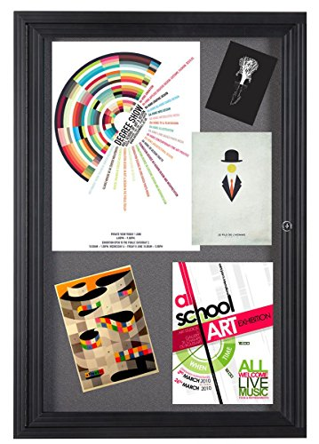 Displays2go-24-x-36-Inches-Wall-Mountable-Enclosed-Message-Board-with-Hinged-Swing-Open-Door-Gray-and-Black-Aluminum-LGFBBF2436-0-1