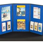Displays2go-3-Panel-Table-Presentation-Board-54-x-30-Inches-Blue-Velcro-Fabric-and-White-3PV5430BLU-0-0