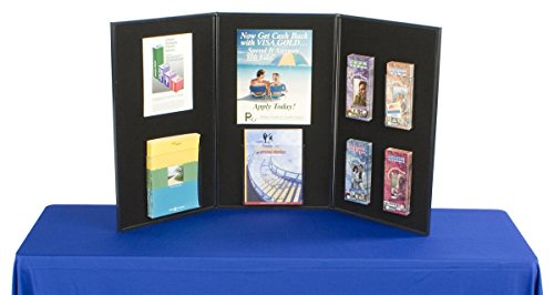 Displays2go-3-Panel-Tabletop-Display-Board-54-x-30-Inches-Black-and-Gray-Velcro-Receptive-Fabric-3P5430BKGR-0-0