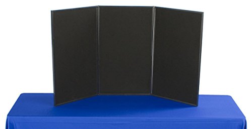Displays2go-3-Panel-Tabletop-Display-Board-54-x-30-Inches-Black-and-Gray-Velcro-Receptive-Fabric-3P5430BKGR-0
