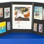 Displays2go-3-Panel-Tabletop-Exhibition-Board-72-x-36-Inches-Velcro-Receptive-Fabric-Black-and-Gray-3P7236BKGR-0-0