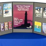 Displays2go-3-Panel-Tabletop-Exhibition-Board-72-x-36-Inches-Velcro-Receptive-Fabric-Black-and-Gray-3P7236BKGR-0-1