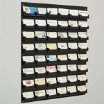 Displays2go-48-Pocket-Wall-Mount-Business-Card-Holder-Rack-Black-Acrylic-BCCBLKWM48-0