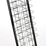 Displays2go-57-Inch-Floor-Standing-Wire-Magazine-Rack-20-Pockets-Tiered-Design-Black-WFM1020A-0-0