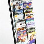 Displays2go-57-Inch-Floor-Standing-Wire-Magazine-Rack-20-Pockets-Tiered-Design-Black-WFM1020A-0