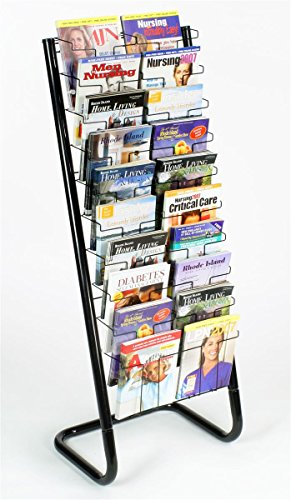 Displays2go-57-Inch-Floor-Standing-Wire-Magazine-Rack-20-Pockets-Tiered-Design-Black-WFM1020A-0