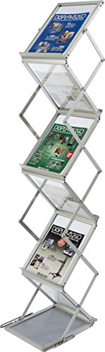 Displays2go-58-Inch-Portable-Folding-Magazine-for-A4-and-85×11-Documents-SilverAluminum-ZZLITG7B-0