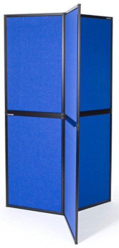 Displays2go-6-Panel-Exhibition-Display-for-Trade-Show-360-Degee-Tri-Panel-Stand-Blue-Velcro-Receptive-Fabric-6PNLBU-0