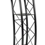 Displays2go-Black-Aluminum-and-Steel-Truss-Lectern-with-Curved-Design-and-Built-In-Shelf-455-Inch-Tall-0