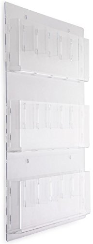 Displays2go-Clear-Acrylic-Hanging-Magazine-Rack-with-Adjustable-Pockets-29×35-RP9CLR-0-0