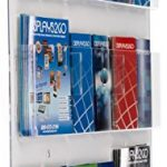 Displays2go-Clear-Acrylic-Hanging-Magazine-Rack-with-Adjustable-Pockets-29×35-RP9CLR-0