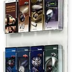 Displays2go-Hanging-Magazine-Racks-Wall-Mounting-Brochure-Holders-Adjustable-Dividers-Clear-RP4CLR-0-0