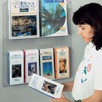 Displays2go-Hanging-Magazine-Racks-Wall-Mounting-Brochure-Holders-Adjustable-Dividers-Clear-RP4CLR-0-1