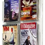 Displays2go-Hanging-Magazine-Racks-Wall-Mounting-Brochure-Holders-Adjustable-Dividers-Clear-RP4CLR-0