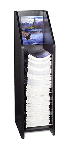 Displays2go-Literature-Floor-Stand-for-9-x-12-Inches-Catalogs-Clear-Acrylic-Header-Included-Black-Melamine-BDIF912BLK-0