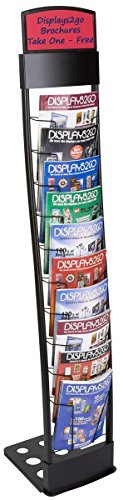 Displays2go-Literature-Rack-Features-10-Pockets-for-85-x-11-Inches-Literature-Folding-Design-for-Transportation-Included-Carry-Bag-for-Storage-and-Mobility-55-Inch-High-TENNVTBLK-0-1