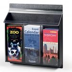 Displays2go-Outdoor-Water-Resistant-Brochure-Holder-3-Pocket-Wall-Mounting-ABS-Plastic-OPD3-0