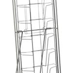 Displays2go-Portable-Literature-Stand-with-10-Pockets-Steel-Silver-NCYBRCHSLV-0-0