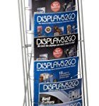 Displays2go-Portable-Literature-Stand-with-10-Pockets-Steel-Silver-NCYBRCHSLV-0