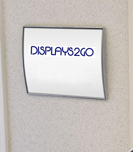 Displays2go-Set-of-2-Door-Sign-with-Non-glare-Lens-for-Displaying-8-12-x-11-Inches-Graphics-Curved-Name-Plate-Holder-Mounts-Vertically-or-Horizontally-to-a-Wall-Silver-Aluminum-WCSSLV8511-0
