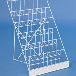 Displays2go-Tabletop-Literature-Organizer-for-Magazines-Brochures-6-Tiers-White-Steel-Wire-WRC6T18WT-0-0