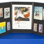 Displays2go-Tri-Fold-3-Panel-Display-Board-72-x-36-Inches-with-Black-Velcro-Receptive-Fabric-and-Write-On-Whiteboard-3PV7236BLK-0-0