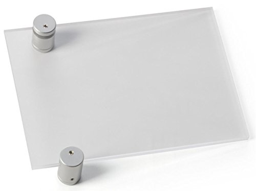 Displays2go-Wall-Mounted-Acrylic-Name-Plate-Displays-5-x-7-Inch-Customized-Graphics-Silver-Satin-Standoff-Mounts-Vertical-Or-Horizontal-Format-Sold-In-a-Set-Of-5-RPRCH75-0-0