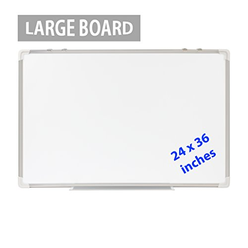 Dry-Erase-Board-24×36-LARGE-Magnetic-Whiteboard-with-Aluminum-Frame-Dryerase-Marker-Boards-for-Office-Bulletin-or-Calendar-Melamine-Perfect-for-Easel-and-Universal-Black-Erasers-Markers-0-0