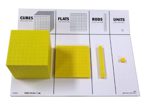ETA-hand2mind-Yellow-Plastic-Base-Ten-Blocks-Place-Value-Set-0
